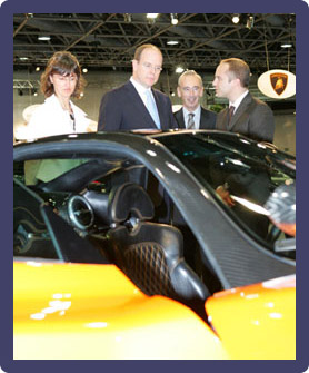 Monaco Crown Prince Albert at the 2008 Monte Carlo Luxury Show